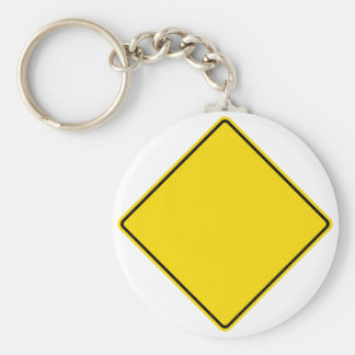 Customizable Road Sign Basic Round Button Keychain