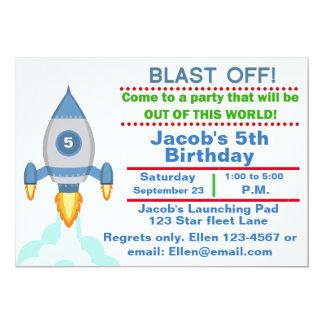 Customizable Rocket Ship Birthday party invitation