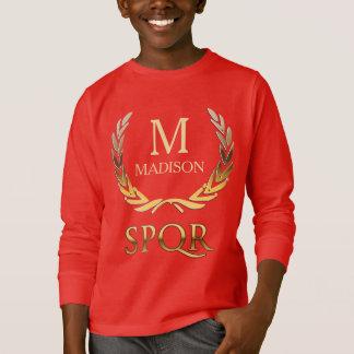 Customizable Roman Laurel Wreath Monogram T-Shirt