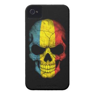 Customizable Romanian Flag Skull iPhone 4 Cases