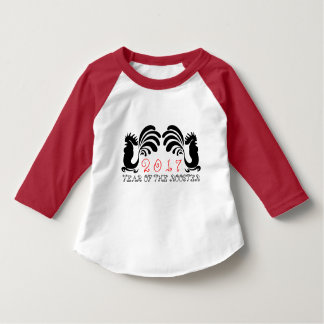 Customizable Rooster Year 2017 graphic kids Tee 5