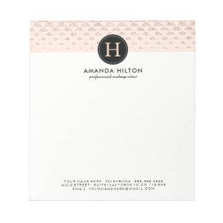 Customizable Rose Gold Glitter Note Pad