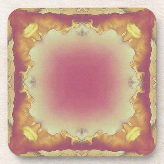 Customizable Rose Yellow Framed Center. Coaster