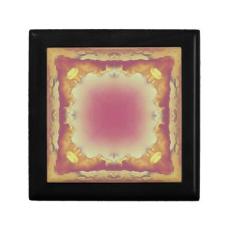 Customizable Rose Yellow Framed Center. Gift Box