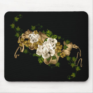 Customizable Roses Gold and Clover Mouse Pad