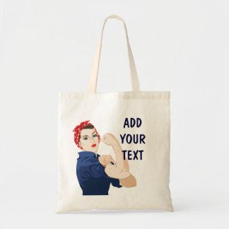 Customizable Rosie Riveter Tote Bag