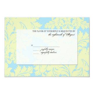 "Customizable RSVP Response Card 3.5"" X 5"" Invitation Card"