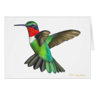 Customizable Ruby Throated Hummingbird Card