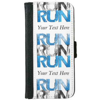 Customizable RUN x 3 Runners iPhone 6 Wallet Case