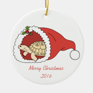 Customizable Russian Tortoise Ornament