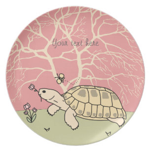 Customizable Russian Tortoise Plate