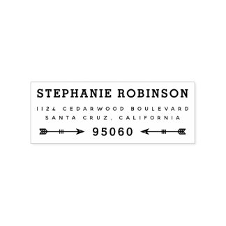 Customizable Rustic Arrows Return Address Rubber Stamp