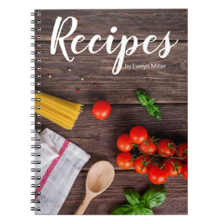 Customizable rustic recipe notebook