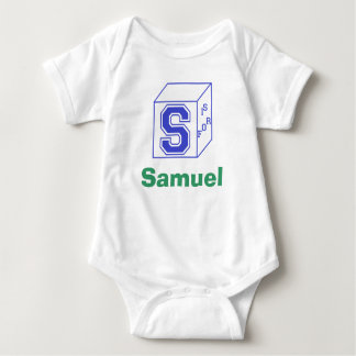 """Customizable """"S Is For..."""" Baby Outfit Baby Bodysuit"""
