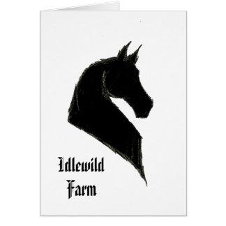 Customizable Saddlebred Note Card