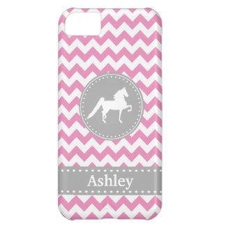 Customizable Saddlebred Pink Chevron iPhone 5 Case