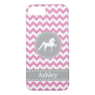 Customizable Saddlebred Pink Chevron iPhone 7 case