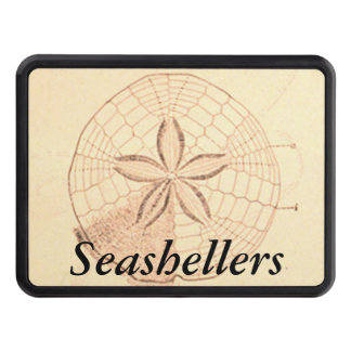Customizable Sand Dollar Illustration Hitch Covers