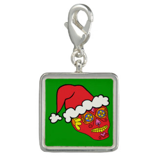 Customizable Santa Sugar Skull Charm