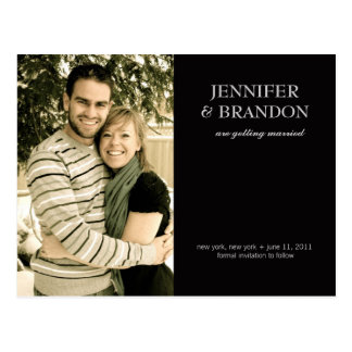 Customizable Save the Date Announcement Post Card
