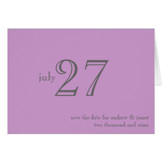 Customizable Save The Date Card : Matrimony