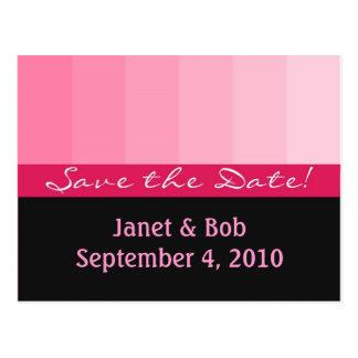 Customizable save the date postcard pinks