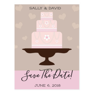 Customizable save the date postcards
