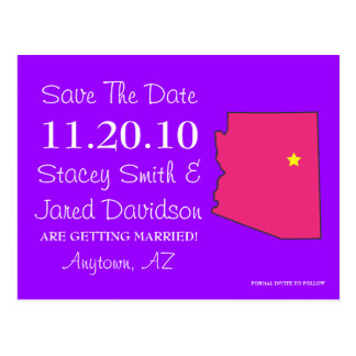 Customizable Save the Date State - ARIZONA Post Cards