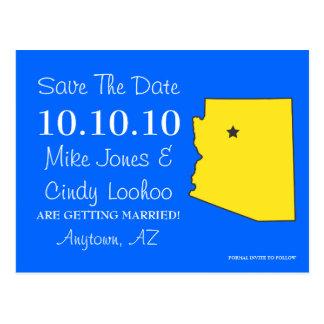 Customizable Save the Date State - ARIZONA Postcard