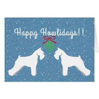 Customizable Schnauzer Holiday Card