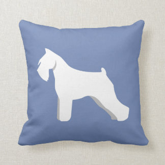Customizable Schnauzer Silhouette Pillow