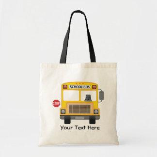 Customizable School Bus Tote Bag