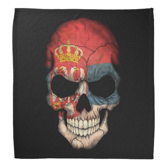 Customizable Serbian Flag Skull Bandana