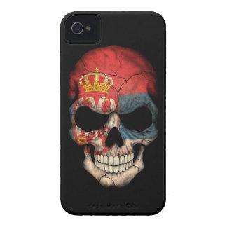 Customizable Serbian Flag Skull Case-Mate iPhone 4 Cases