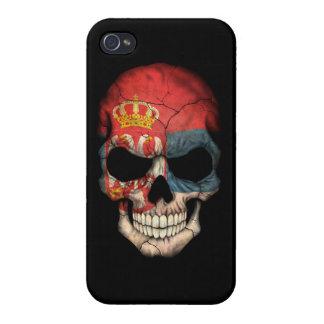 Customizable Serbian Flag Skull Case For iPhone 4