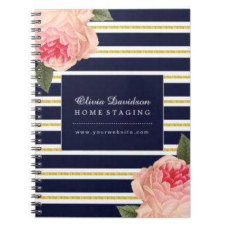 Customizable Shabby Chic Designer Note Book