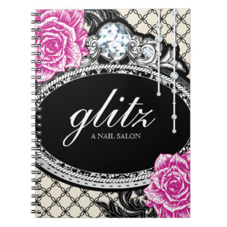 Customizable Shabby Chic Nail Salon Note Book