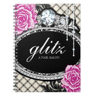 Customizable Shabby Chic Nail Salon Note Book