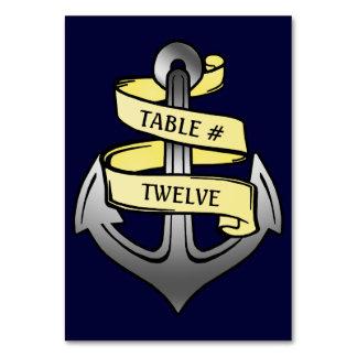 Customizable Ship Captain Anchor Nautical Party Card