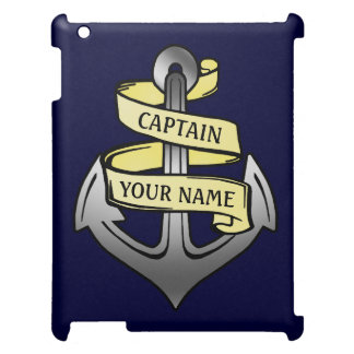 Customizable Ship Captain Your Name Anchor iPad Case