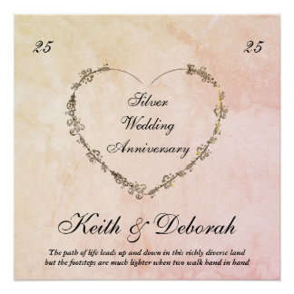 Customizable Silver Anniversary Perfect Poster