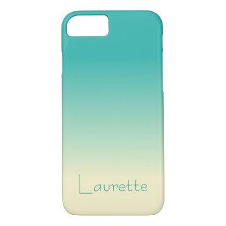 Customizable Simple Aqua and Cream Gradient Ombre iPhone 8/7 Case