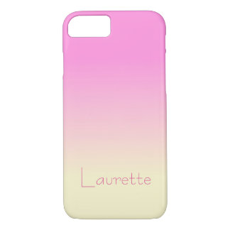 Customizable Simple Candy Pink and Cream Gradient iPhone 8/7 Case