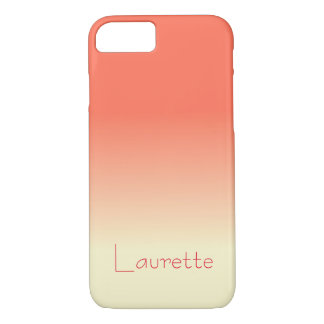 Customizable Simple Coral and Cream Gradient Ombre iPhone 8/7 Case