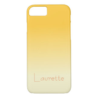 Customizable Simple Pale Orange and Cream Gradient iPhone 8/7 Case