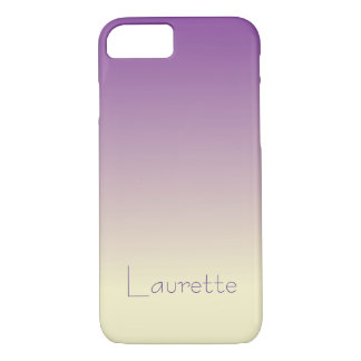Customizable Simple Purple and Cream Gradient iPhone 8/7 Case