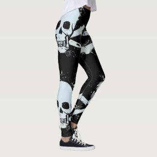 customizable skull leggings