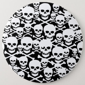 Customizable Skulls & Crossbones 6 Inch Round Button