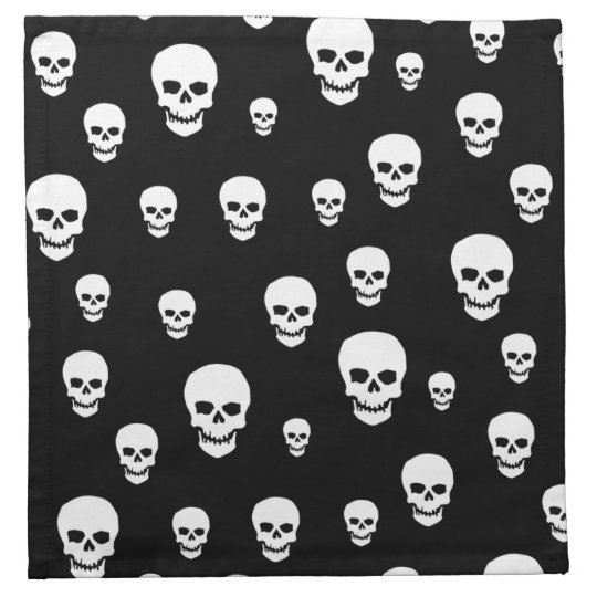 Customizable Skulls Napkin