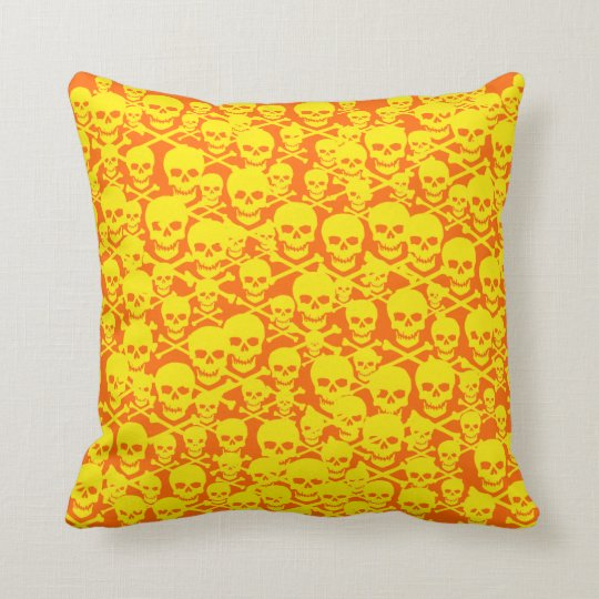 Customizable Skulls Throw Pillow